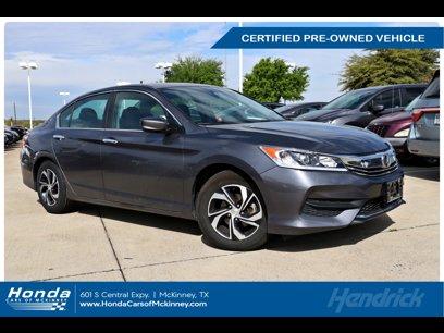 Certified 2017 Honda Accord LX Sedan - 569336288
