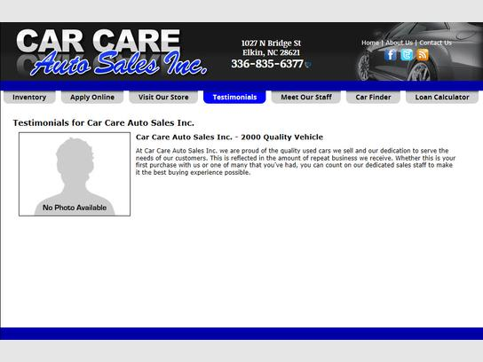 Autotrader Loan Calculator >> Car Care Auto Sales Inc Elkin Nc 28621 Car Dealership And Auto