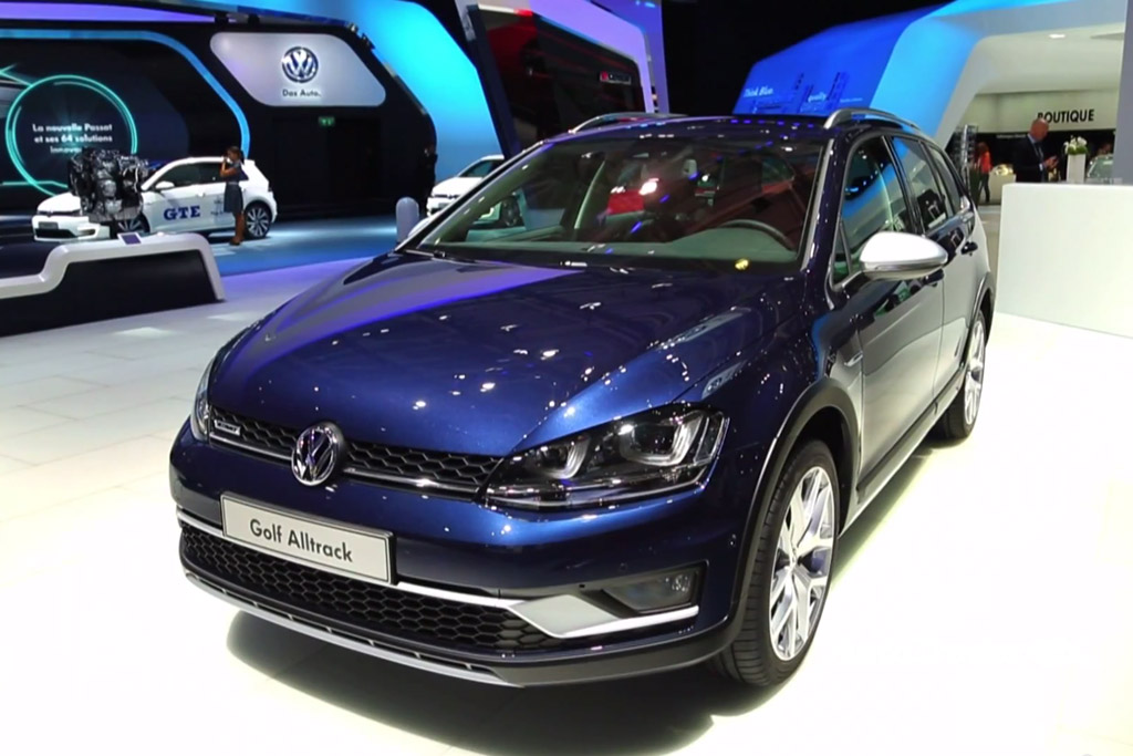 Volkswagen Golf Alltrack: Paris Auto Show - Video