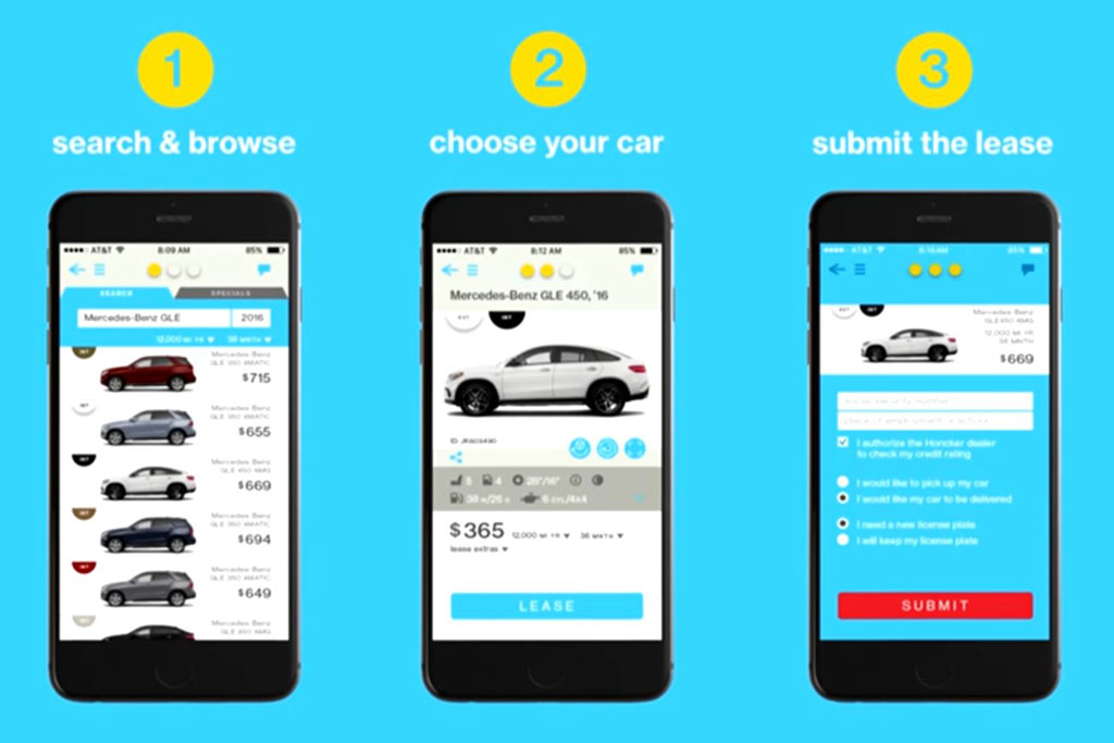 Leasing a Car with Three Swipes on Your Smartphone Is Here