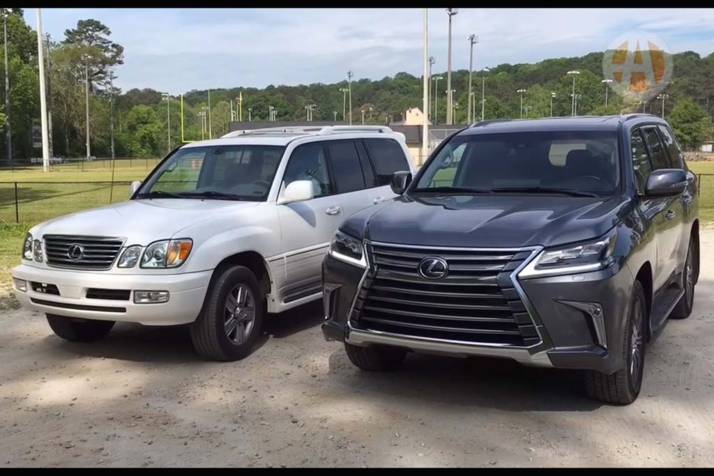 2016 Lexus LX 570 vs. 2006 Lexus LX 470 - Video