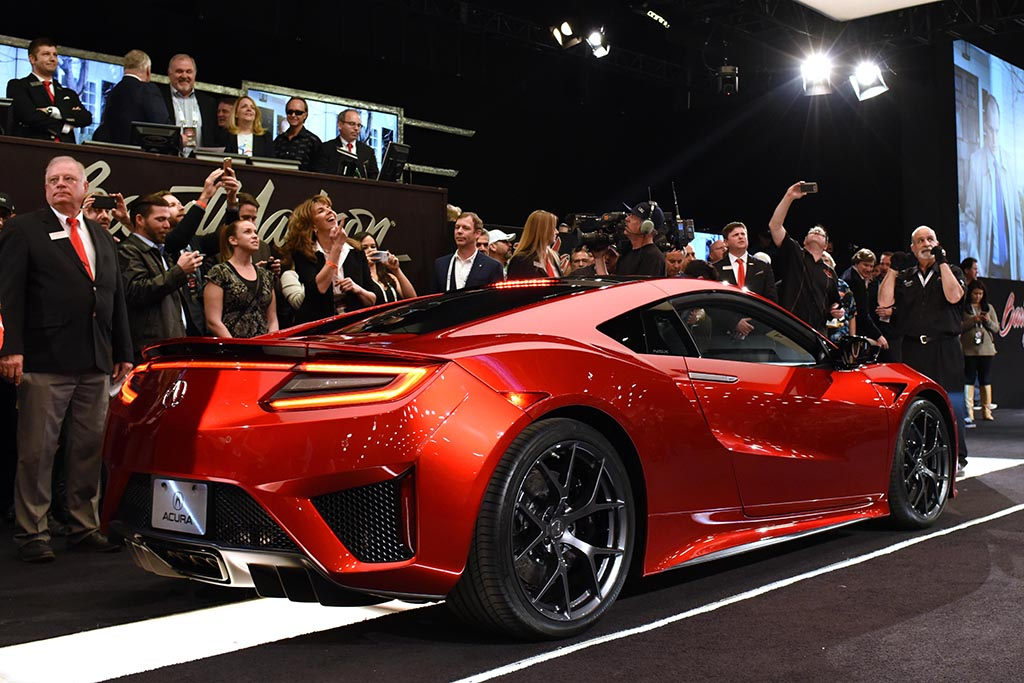 First 2017 Acura NSX Sells for $1.2 Million to NASCAR Team Owner Rick Hendrick