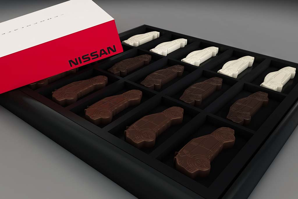 Nissan Celebrates Moms With Chocolate Cars