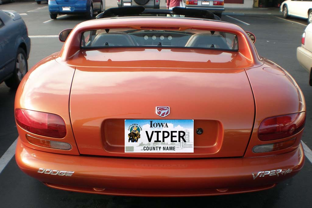 Here Are All the Cars With the Vanity License Plate VIPER Across the Country