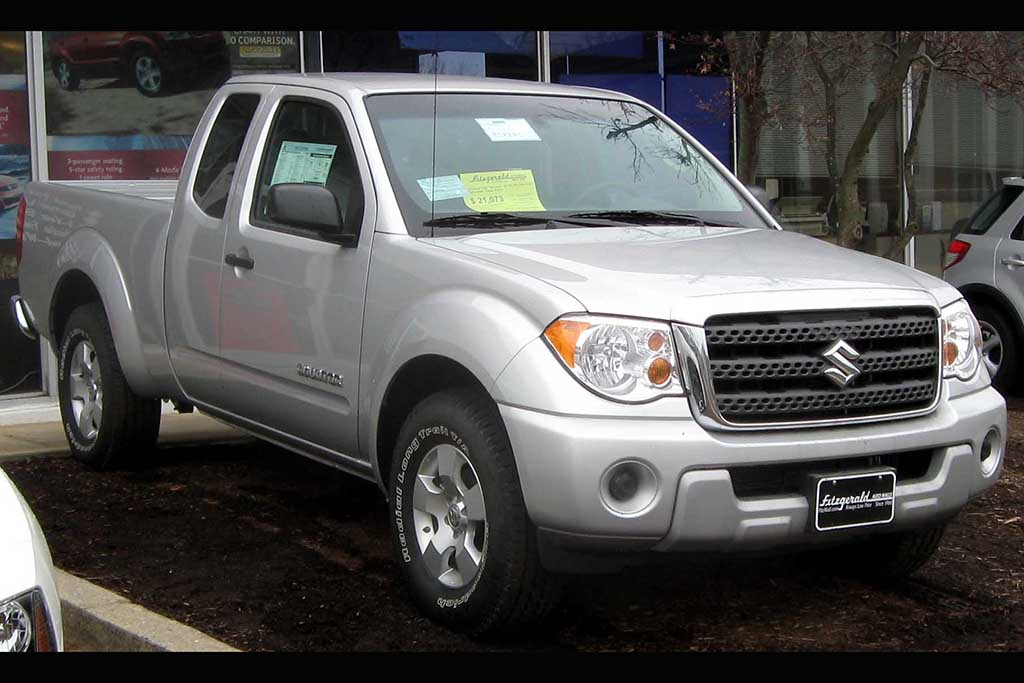 Remember the Suzuki Equator, a Suzukified Nissan Frontier?