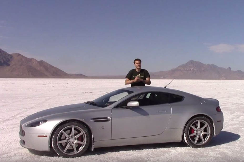 I Drove My Aston Martin as Fast as I Could on the Bonneville Salt Flats