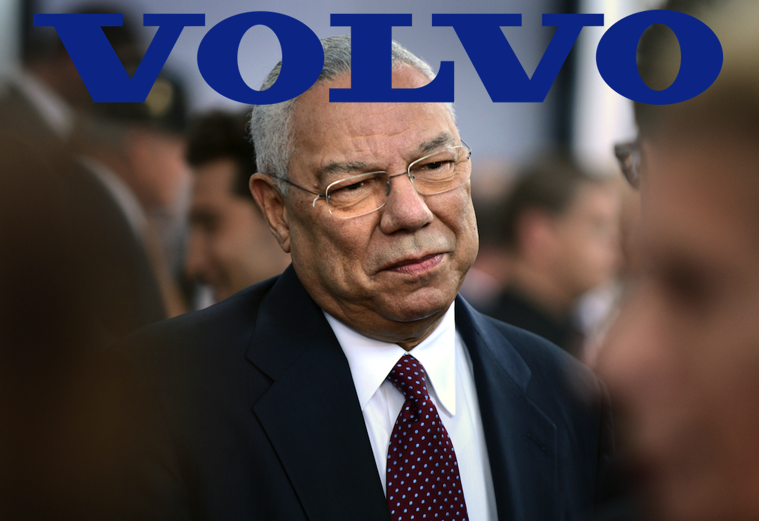 Colin Powell Loves Old Volvos