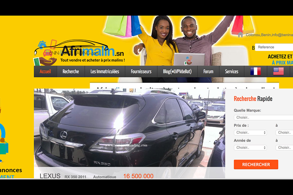 This Benin Car-Trading Site Is Where Your Old SUV Goes When You Trade It In
