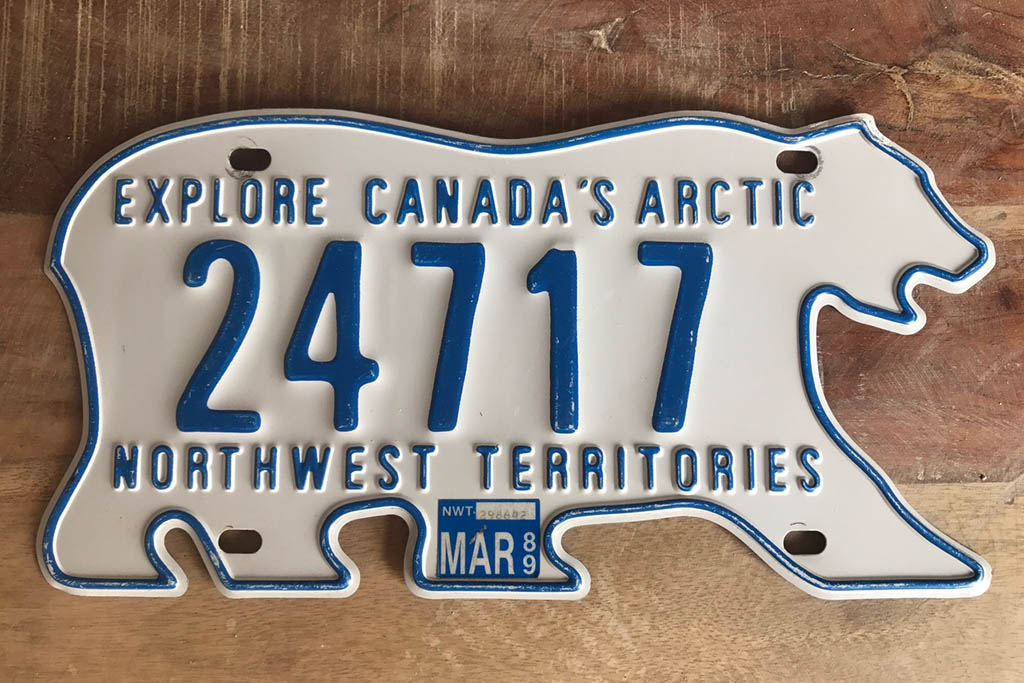 The License Plate of Canada's Northwest Territories Is Shaped Like a Polar Bear