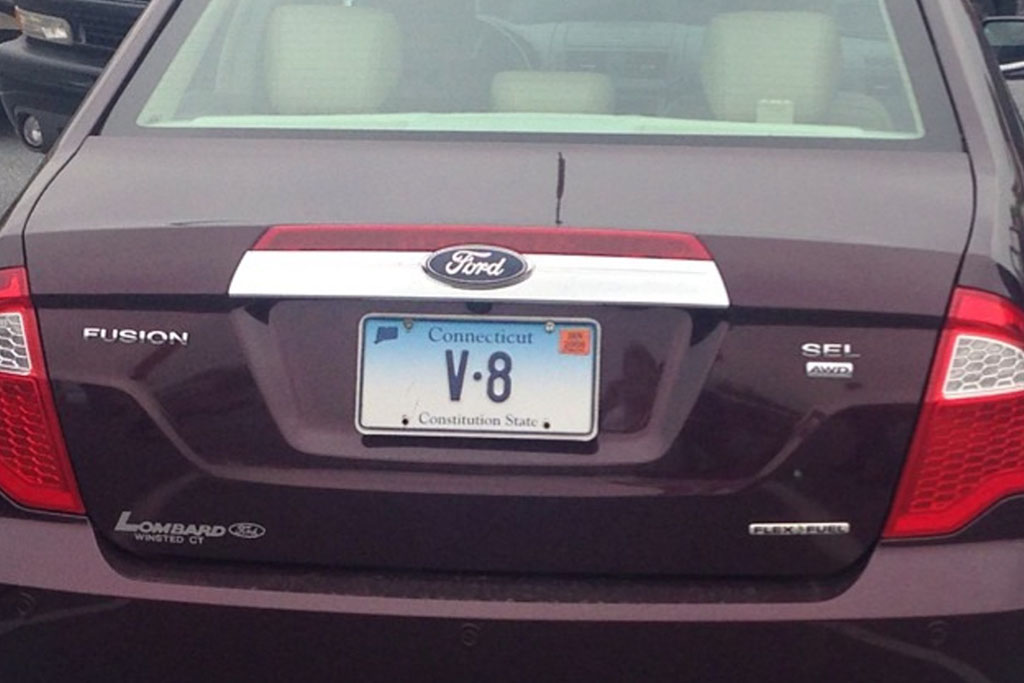 "Here Are All the Cars With the Vanity License Plate ""V8"" Across the Country"