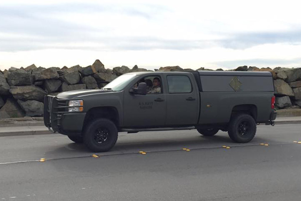 The US Navy Uses These Beefy Chevy Silverado HD Pickup Trucks