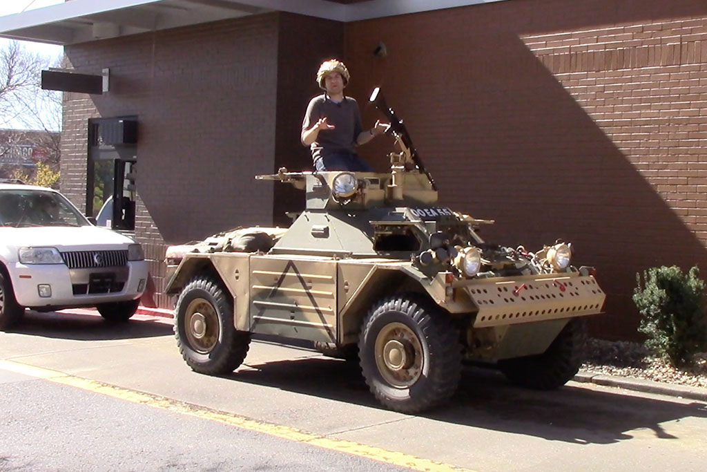 I Drove an Armored Military Vehicle Around Nashville
