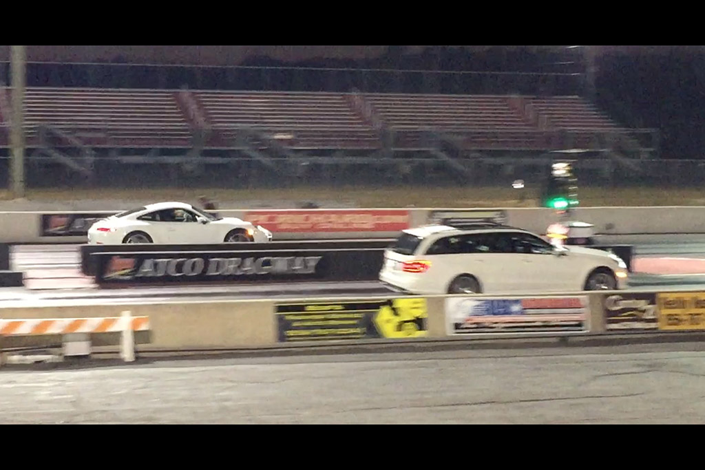 Video | I Raced My E63 AMG Wagon Against an Audi R8 and a Porsche 911