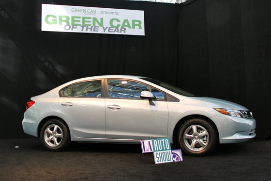 Natural Gas Honda Civic Takes Green Car of the Year Crown