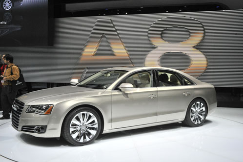 Everybody was raving about the interesting design of the LED headlights on the Audi A8
