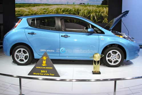 Nissan Leaf Named World Car of the Year - New York Auto Show featured image large thumb0