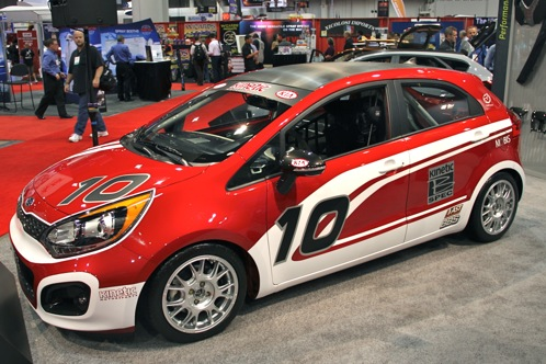 Kia Race Car and Surfer Themed Rios - SEMA Auto Show featured image large thumb2