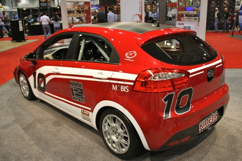 Kia Race Car and Surfer Themed Rios - SEMA Auto Show featured image large thumb6