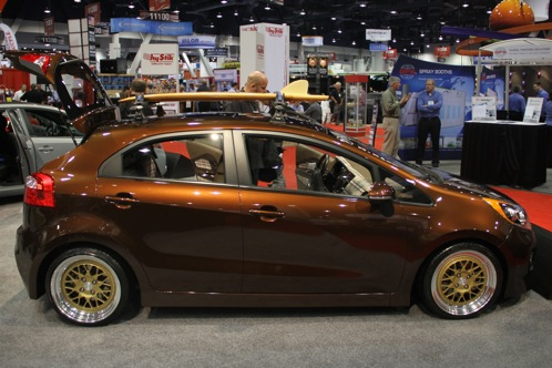 Kia Race Car and Surfer Themed Rios - SEMA Auto Show featured image large thumb11