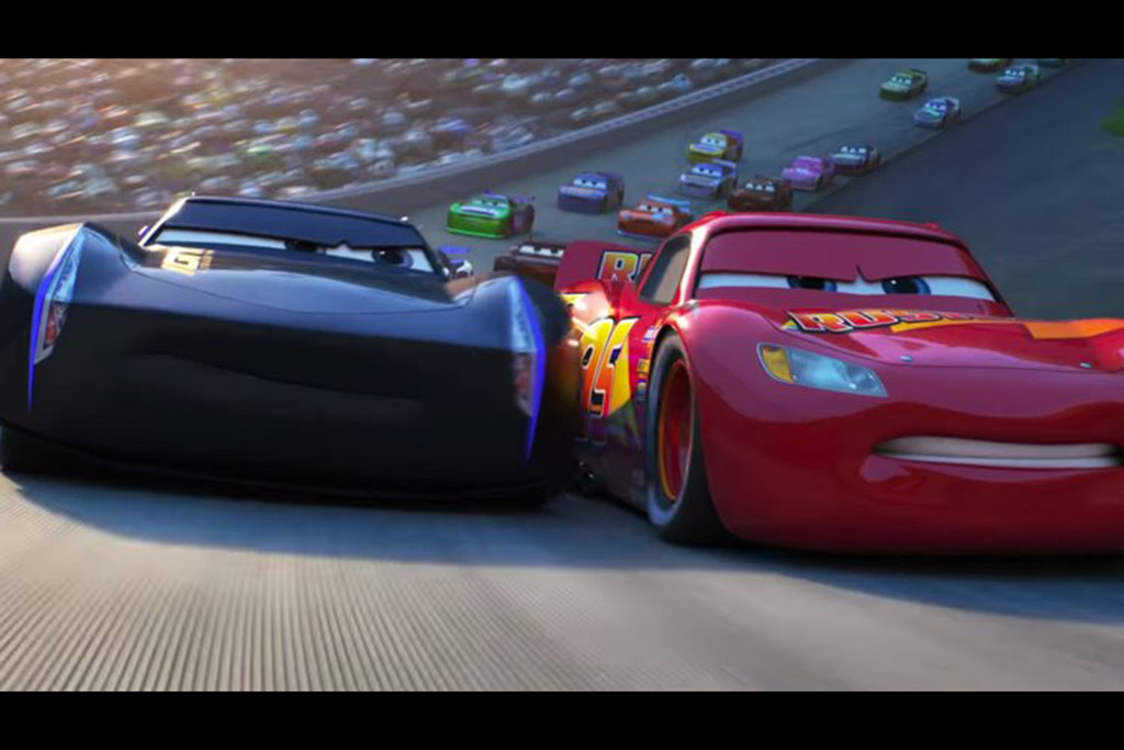 """Cars 3"": Lightening McQueen and Jackson Storm"