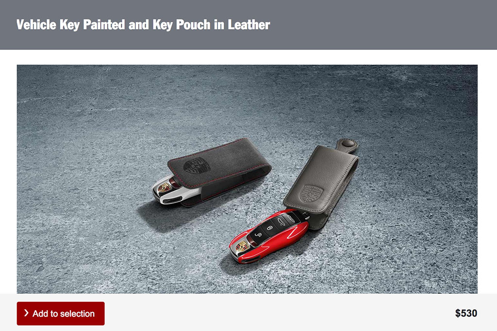 Vehicle Key Painted and Key Pouch in Leather