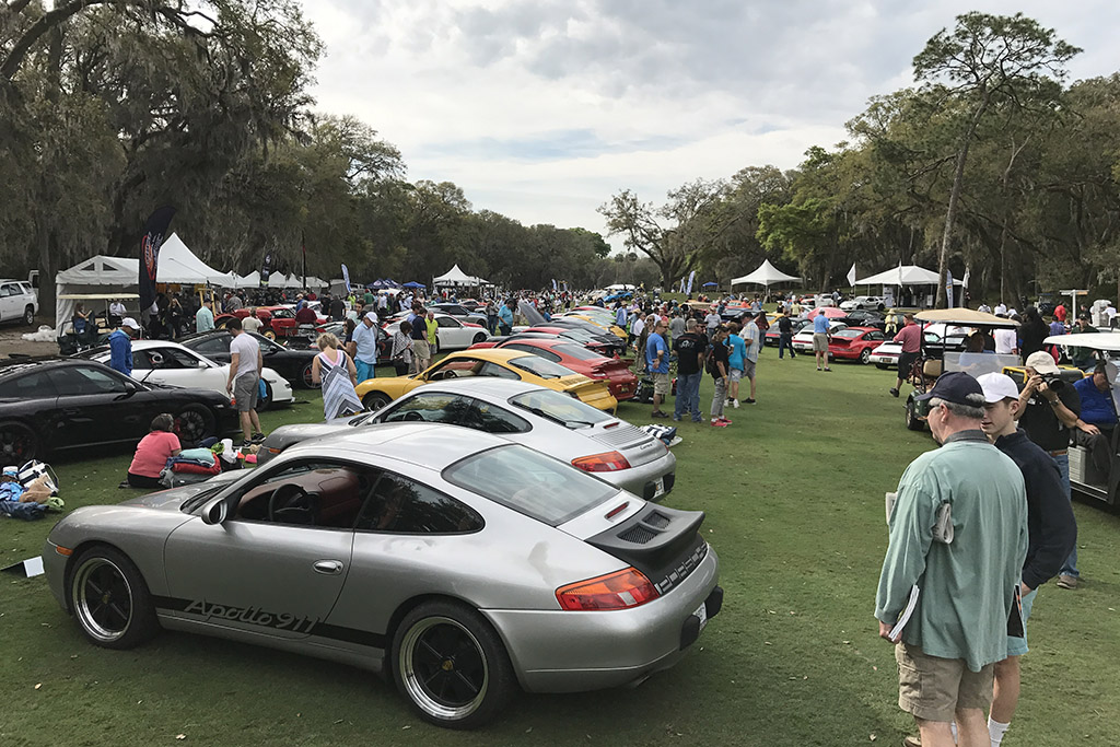 Lots of Porsches