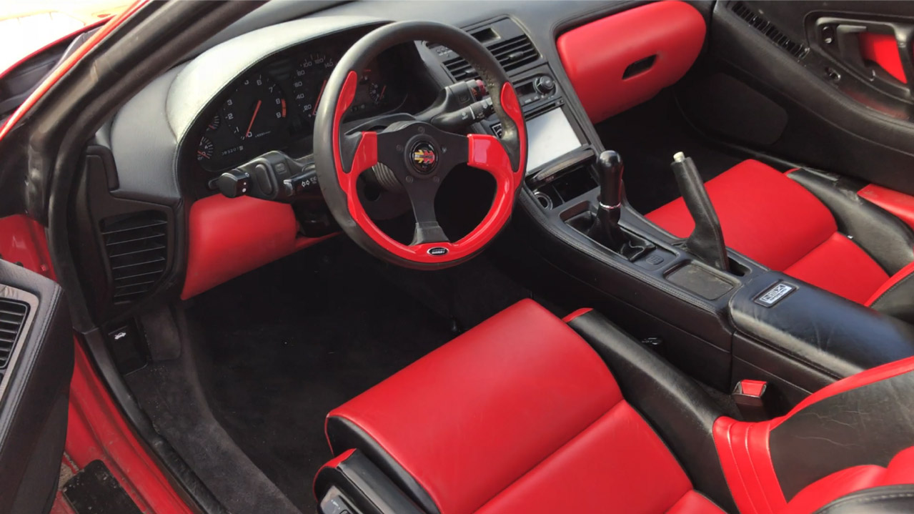 Acura NSX Interior When Tyler First Bought it