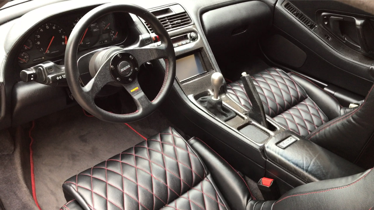 The New interior of Tyler's NSX