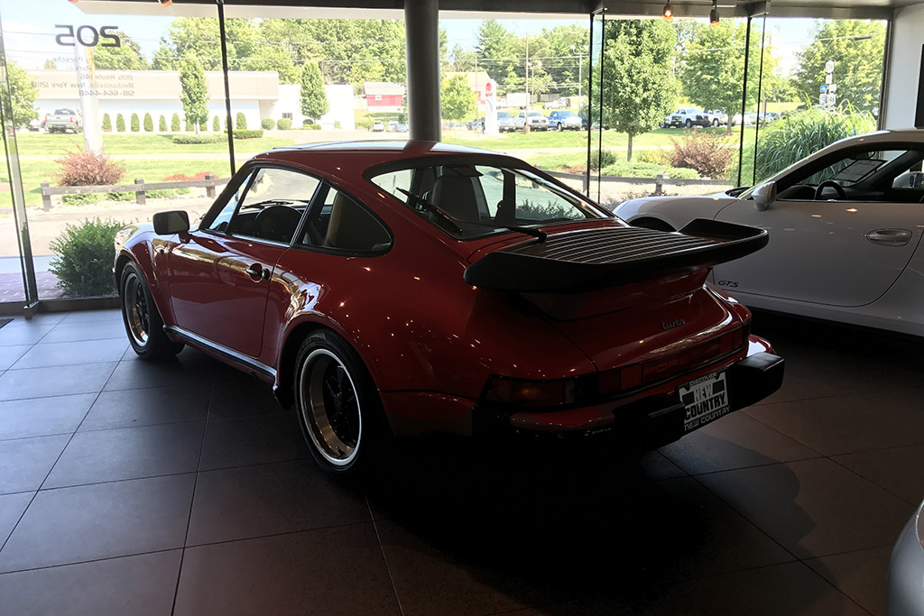Porsche 911 in dealership