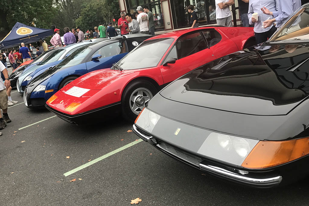 Ferrari Daytona and 512BB, Two Veyrons and a P1