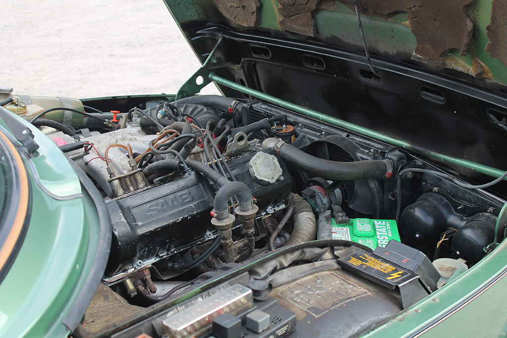 under the hood of the saab 99