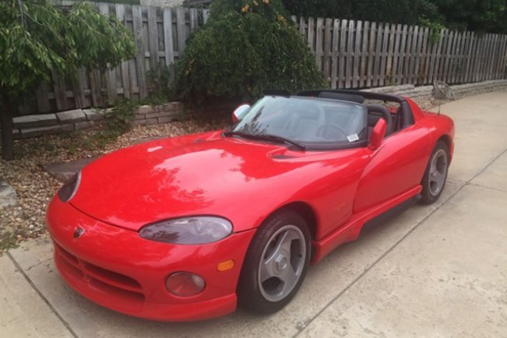 1992 Dodge Viper with 250 Miles