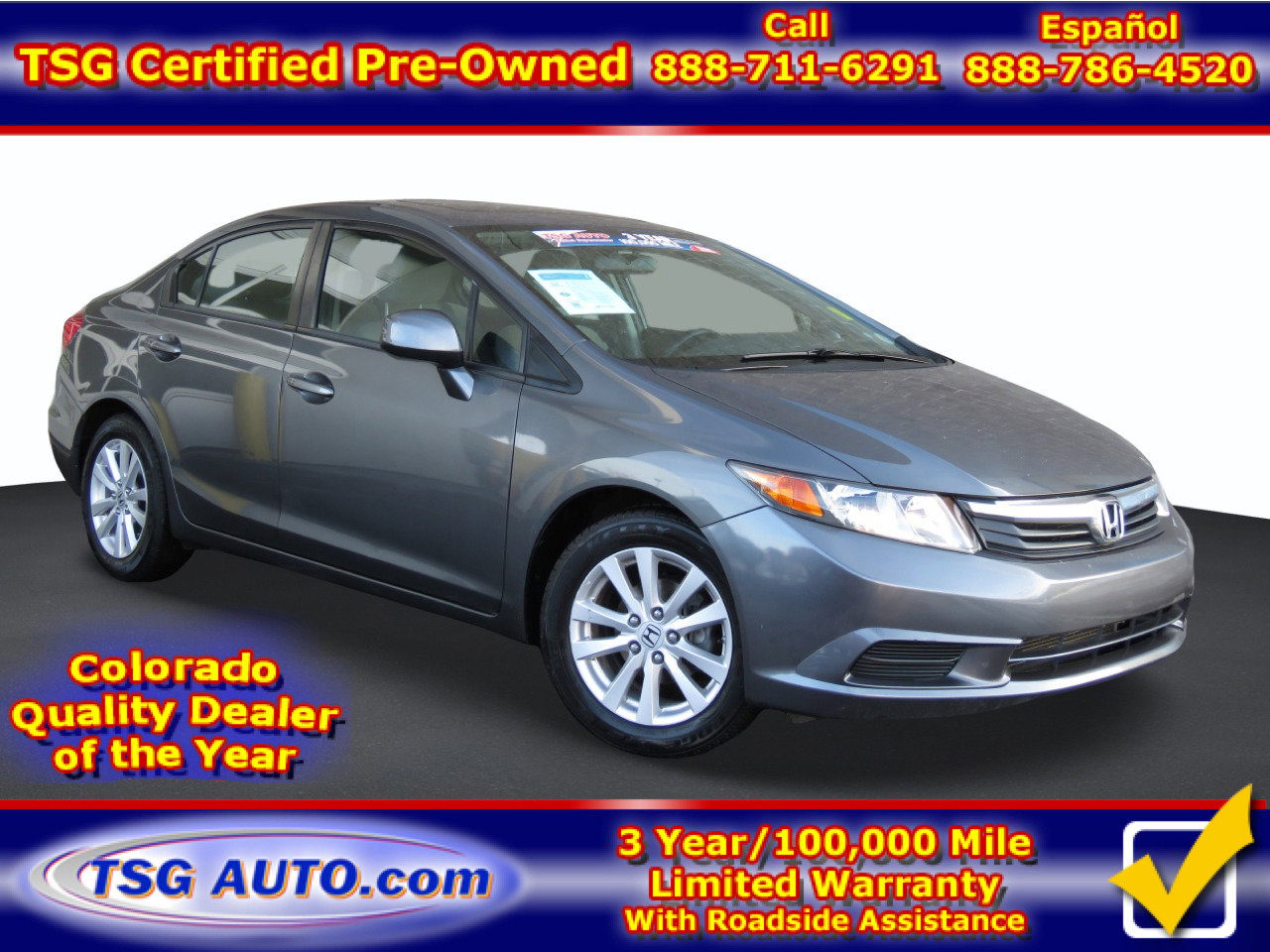 2012 Honda Civic EX Sedan image