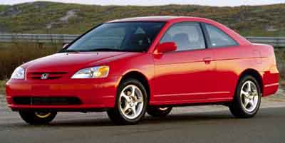 2002 Honda Civic 2dr Cpe LX Manual w/Side Airbags