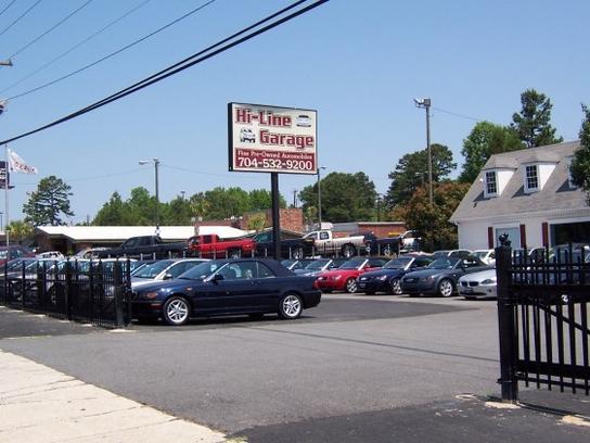 Car Lots In Charlotte Nc: Hi-Line Garage : Charlotte, NC 28212 Car Dealership, And
