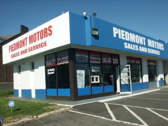 Piedmont Motors Car Dealership In Warrenton Va 20186 2331