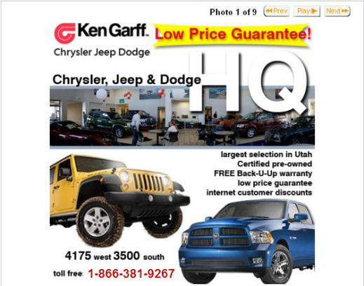 ken garff west valley chrysler jeep dodge ram salt lake city ut 84120 car dealership and. Black Bedroom Furniture Sets. Home Design Ideas