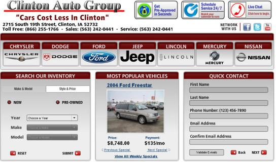 Jeep Dealers In Iowa >> Clinton Auto Group : Clinton, IA 52732 Car Dealership, and Auto Financing - Autotrader