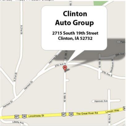 Clinton auto group clinton ia 52732 car dealership and for Deal motors clinton hwy