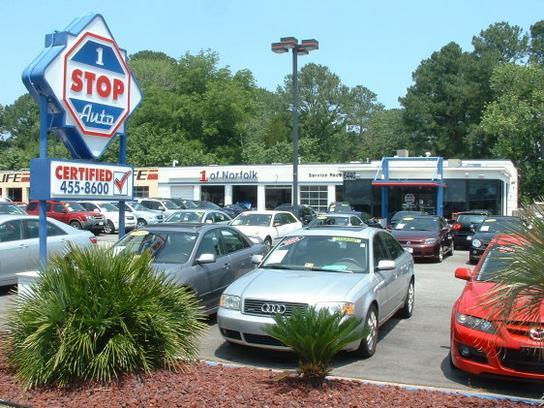 1 stop auto car dealership in norfolk va 23502 kelley blue book. Black Bedroom Furniture Sets. Home Design Ideas