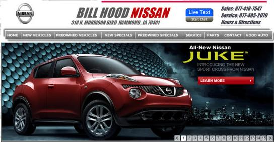hammond la bill hood nissan new nissan dealership in. Black Bedroom Furniture Sets. Home Design Ideas