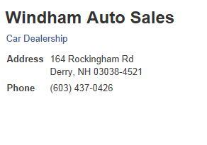 Windham Auto Sales 2