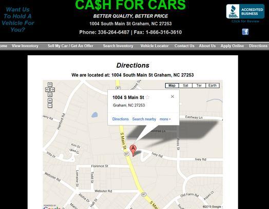 cash for cars nc car dealership in graham nc 27253 kelley blue book. Black Bedroom Furniture Sets. Home Design Ideas