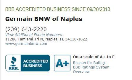 Germain Bmw Naples Fl 34110 1622 Car Dealership And
