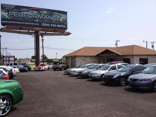 performance motors killeen tx 76543 car dealership and