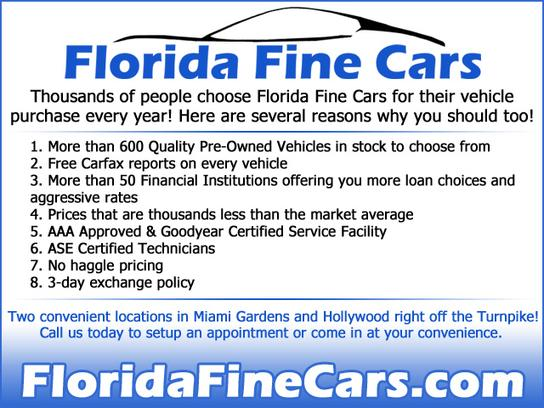 Florida Fine Cars Miami Miami FL 33169 Car Dealership and Auto