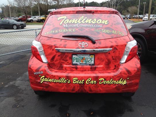 Tomlinson motor co gainesville fl 32609 2378 car for Tomlinson motors gainesville florida