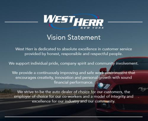 Vision ford west ridge road rochester new york for Kia motors mission statement