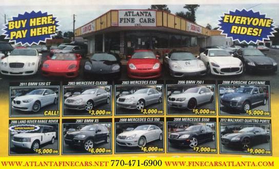 Atlanta Fine Cars Inc : Jonesboro, GA 30236-1902 Car ...