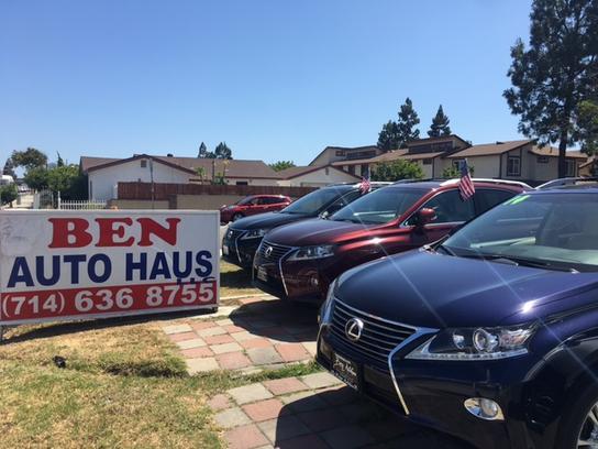 Ben Auto Haus Car Dealership In Garden Grove Ca 92843